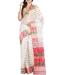 dhakai jamdani saree shop dhakai jamdani saree in white with jamdani work from