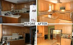 Kitchen Cabinets Before And After Refinishing Kitchen Cabinets Before And After Nrtradiant Com
