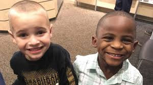 5 year old boy got haircut to look identical to friend who is a