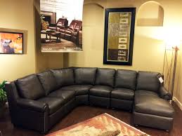 High End Leather Sectional Sofa Bradington Luxury Motion Furniture Made In The Usa