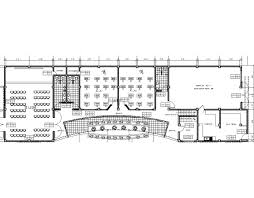 community center multipurpose hall 2d dwg plan for autocad