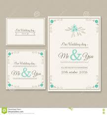 You Are Invited Card Wedding Invitation Card Illustration Set Stock Illustration