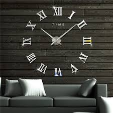 home decor hours modern 3d wall clock art style watch hours diy room home decor model