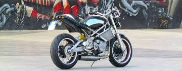 boxer dog on motorcycle given motodesign reimagines classic cr u0026s vun