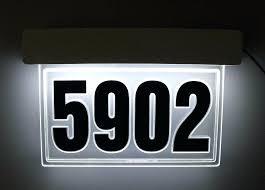 light up address sign backlit led house numbers light up house numbers led backlit house