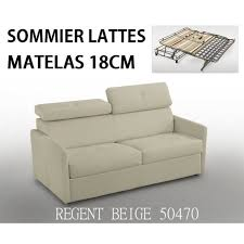 canapé lit matelas canapé lit montmartre rapido matelas 18cm sommier lattes lampolet