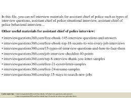 Chief Of Police Resume Examples by Top 10 Assistant Chief Of Police Interview Questions And Answers