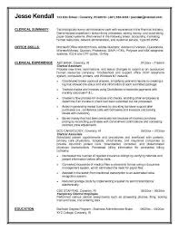 clerical resume itacams ec526f0e4501
