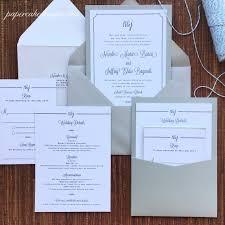 pocket wedding invitations custom graphic design enclosure