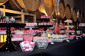 Pink And Black Candy Buffet by Pink And White Ice Candy Cake U0026 Cupboard