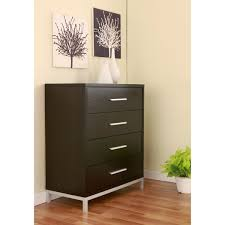 Metal And Wood Cabinet Furniture Of America Modern 4 Drawer Wood And Metal Chest Free