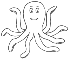 octopus coloring page sea marine inside kids colouring pages
