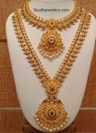 necklace designs images Mango necklace and long haram set photo indian jewelry jpg