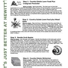 4 step lawn care hewitts garden centers