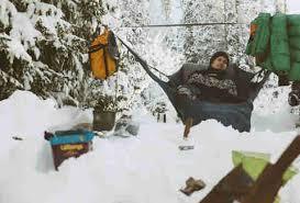 best hammocks for winter camping amok draumr thrillist