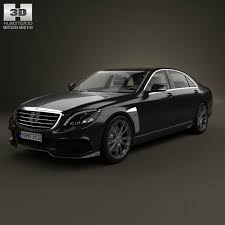 mercedes s class w222 brabus 2014 3d model from humster3d