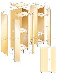 tall storage cabinet plans u2022 woodarchivist