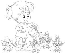 cool watering can coloring page 46 453