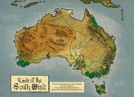 Etsy Maps Toponymic Fantasy Style Map Of Australia Maps Of Australia