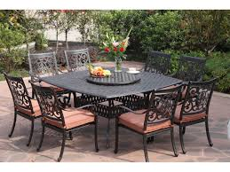 Patio Furniture Covers Decorating Terrific Stunning Square Wrought Iron Table And Iron
