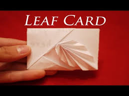 How To Make Origami Greeting Cards - how to make an easy origami leaf card hd