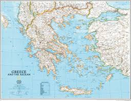 Thessaloniki Greece Map by Greece Wall Map Southeurope Countries Europe Wall Maps