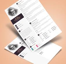 creative professional resume cv design template with cover