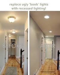 kitchen ceiling lights flush mount recessed lighting totally want to do this to get rid of the ugly