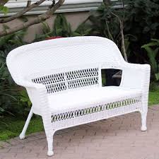 Wicker Resin Patio Chairs White Resin Wicker Patio Furniture Seat Jeco
