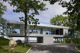 elevated home designs glass house overlooking the peconic bay clearhouse by stuart parr