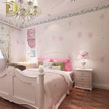 simple pastoral pink purple 3d flower wallpaper for walls embossed