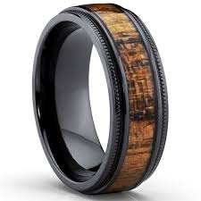 titanium wedding ring metal masters co black titanium wedding band with real koa wood