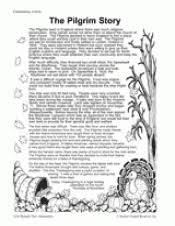 the pilgrim story colonial times printable 3rd 5th grade