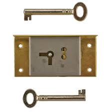 right brass half mortise lock with skeleton