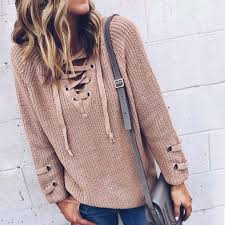 wholesale sweaters stevie lace up sweater boho lace up sweaters from spool 72