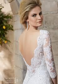 mori lee bridal 2776 lace three quarter sleeve wedding dress