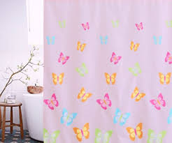 unique colorful shower curtains in flossy retro pink shower