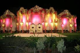 Decorations Flower Decorative Wedding Hall With Lighting