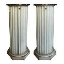 Pedestal Cabinets Hollywood Regency Fluted Column Form Pedestal Cabinets A Pair