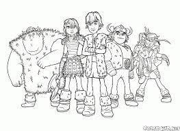 coloring page team hiccups