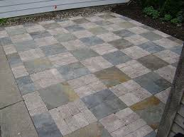 Patio Paver Blocks Bluestone And Brussels Block Pavers For A Chicago Patio By Dig