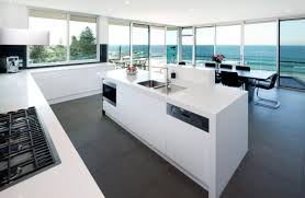shinining and panoramic beautiful kitchens in modern interior