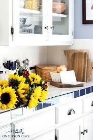 Fall Kitchen Decor - farmhouse fall home tour eucalyptus u0026 cotton bolls on sutton place