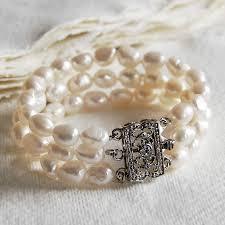 bracelet style vintage images Vintage style triple strand pearl bracelet by highland angel jpg