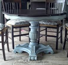Painted Dining Room Furniture Ideas Ascp Louis Blue Paint Dining Table Makeover Painted Furniture For