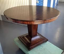 round dark wood pedestal dining table 42 round pedestal dining table from the acquisitions collection by