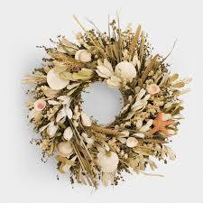 herb wreath seashell and herb wreath world market