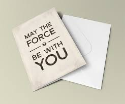 wars congratulations card wars may the be with you sci fi quote greeting card