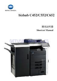 konica minolta impresoras bizhub c452 manual de usuario descargar
