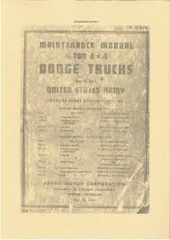 dodge paperprint wwii military vehicle manuals